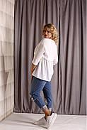 ❤/ Розмір 42-74 / Жіноча блузка великих розмірів 01925 / колір білий, фото 3