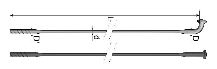 Спиці Mach1 AIR1+ чорний 2.0-1.5-2.0/ 278 /10 шт