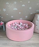 Нежно розовый сухой бассейн с шариками( белый, прозрачный, перламутровый, розовый), фото 1