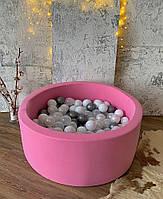 Рожевий дитячий сухий басейн з кульками, фото 1