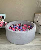 Серый сухой бассейн с шариками, фото 1