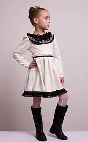 """Детское нарядное платье """"Мелисса"""" молочное"""