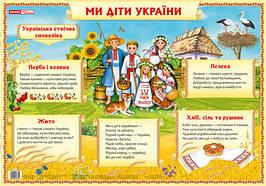 Плакат Ранок 42*60 Україна наша Батьківщина 0186 13104045У