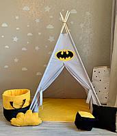 """Вігвам """"Маєток Бетмена"""" з прямим килимком"""