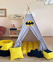 """Вігвам """"Маєток Бетмена"""" з килимком бомбон(ерекція), фото 1"""