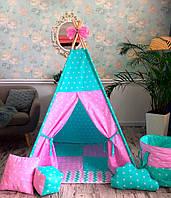 """Детская палатка - вигвам """"Хроники Нарнии"""" с прямым ковриком"""
