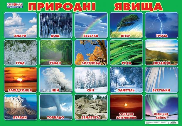 Плакат Ранок 50*70 Природні явища 019913104088У, фото 2