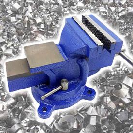 Тиски слесарные настольные с литым корпусом 100 мм, поворот на 120°,  Htools (07K210)