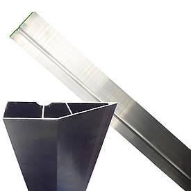 Рейка (правило) будівельна трапецевидна для штукатурних робіт 250 см, 2 ребра жорсткості, Htools (29B154)