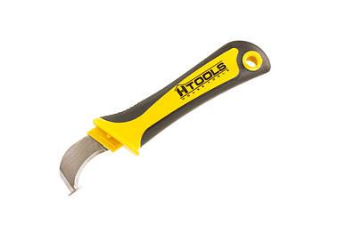 Нож монтерский длина 190 мм, с изогнутым лезвием 50 мм. HouseTools 17K551