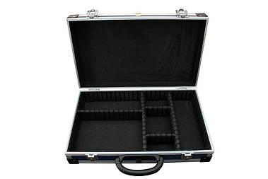 Ящик-кейс (органайзер) для инструмента, алюминиевый с перегородками, размер 395*240*90 мм Htools (79K222-S)