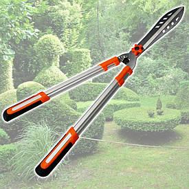 Садовые ножницы для стрижки живой изгороди с перфорированными лезвиями Htools (99K223)