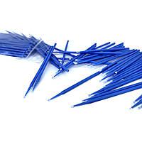 Мікробраші в пакеті головка велика, сині (100шт), фото 1