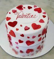 Торт на День Валентина