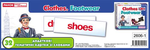 Тематичні картки Світогляд Англ Додаткові Одяг взуття 32 2606-1 ... 6ce57a11d3e2b