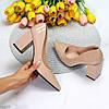 Элегантные женственные бежевые женские туфли на фигурном каблуке 36-23,5 / 38-24,5см, фото 9