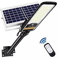 Уличный светильник на солнечной батарее UKC Solar Street JD-296 200W садовый фонарь на столб с пультом (TI)