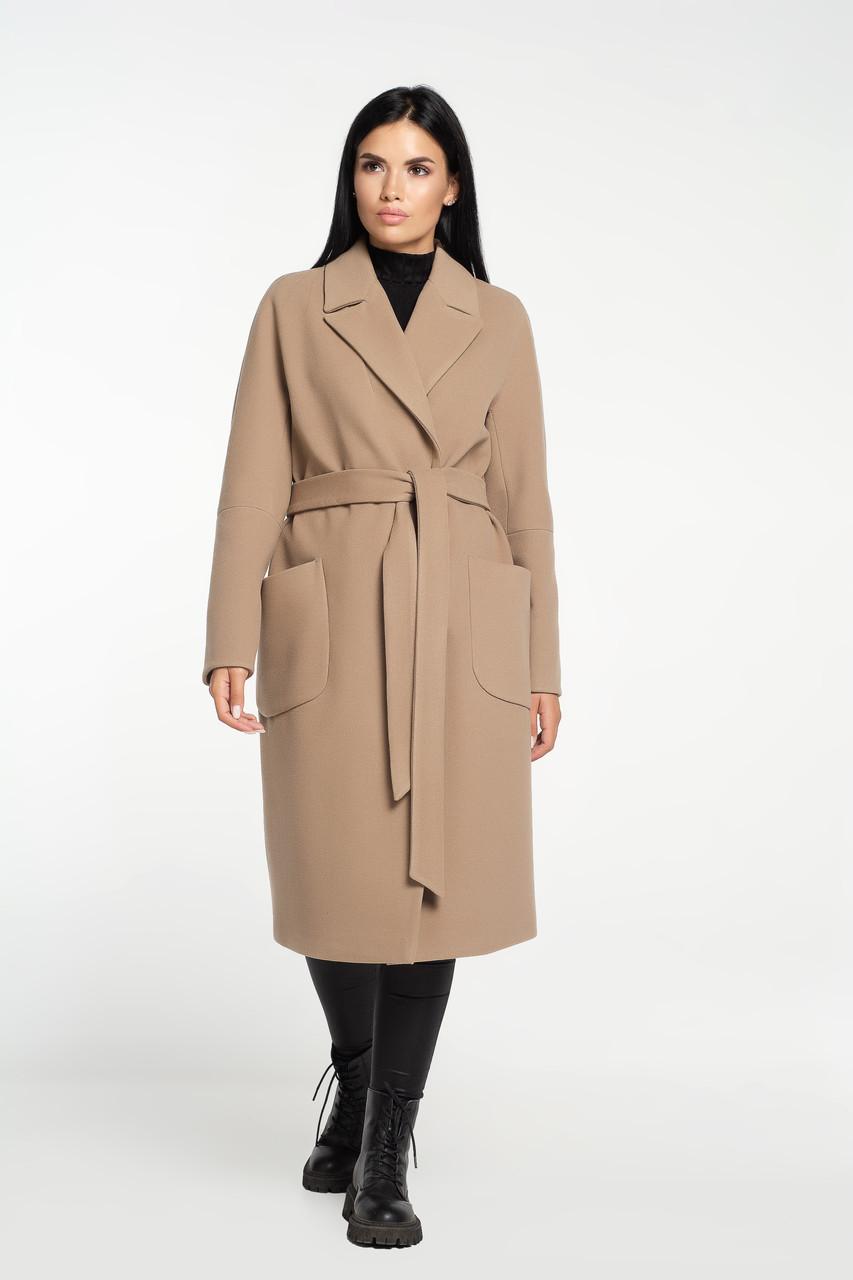 Пальто халат під пояс