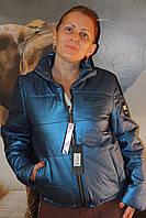 Куртка синяя с блеском короткая