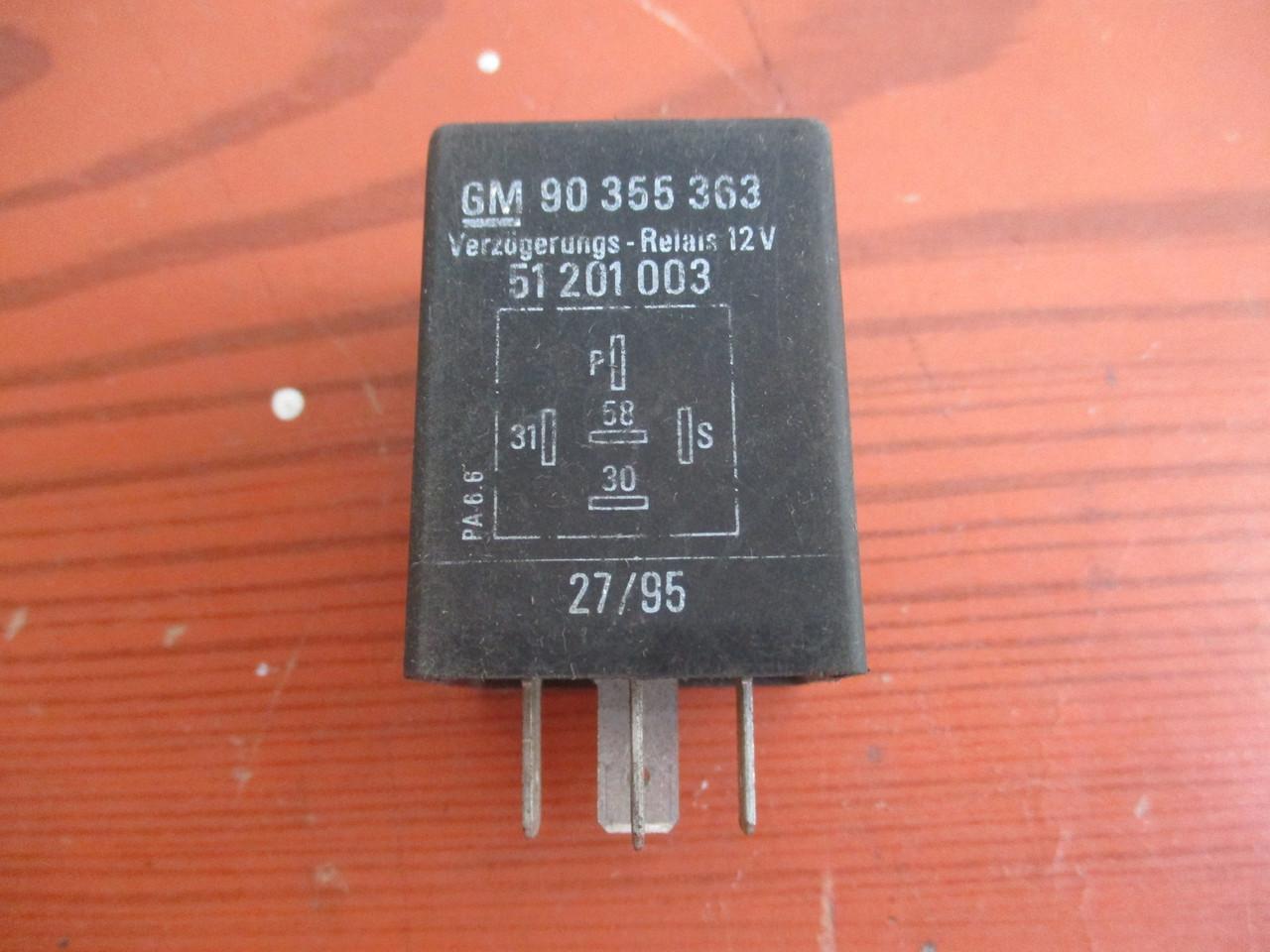 Реле омывателя фар GM 90355363, 51201003 99150028 Opel
