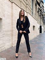 Діловий брючний костюм жіночий класичний з піджаком весна-осінь р-ри 42-48 арт. 408, фото 1