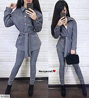 Замшевий стильний жіночий костюм з лосинами р-ри 42-44,44-46