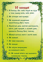 Плакат. 10 заповідей