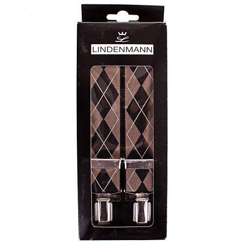 Современные мужские подтяжки LINDENMANN Артикул: FARE8600-01 коричневый