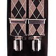 Современные мужские подтяжки LINDENMANN Артикул: FARE8600-01 коричневый, фото 2