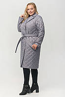 """Жіноче демісезонне плащ-пальто з поясом ArDi """"Класика"""" Сірий, 46"""