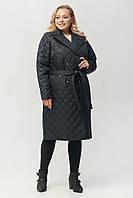 "Жіноче демісезонне плащ-пальто з поясом ArDi ""Класика"" Черный, 46"