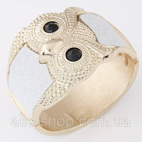 Нарядный эксклюзивный браслет с роскошной блещущей совой на любой праздник, торжество.