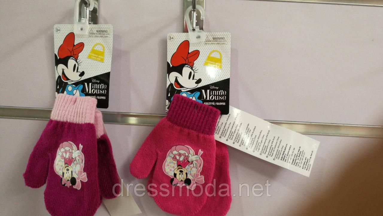 Рукавиці в'язані для дівчаток Minnie 2-6 років