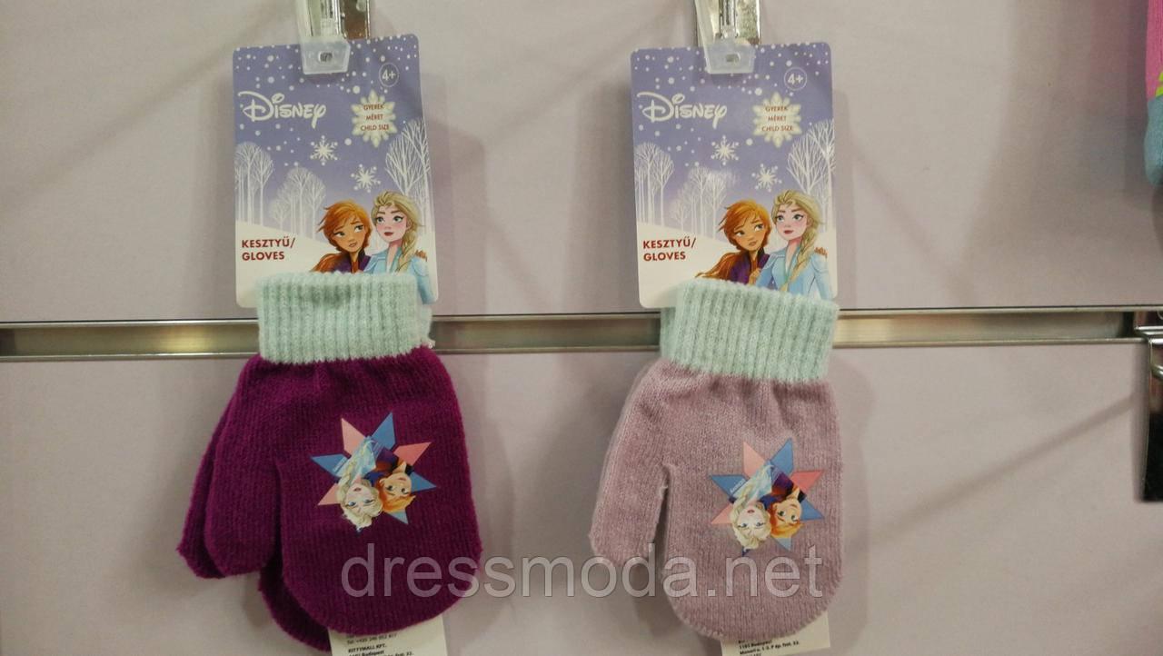 Рукавиці в'язані для дівчаток Frozen 2-6 років