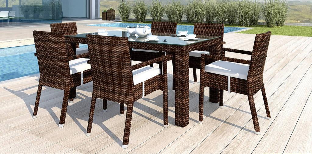 Комплект Orso III стіл 160см+6 крісел Falko