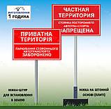 Знак Табличка метал Служебная парковка Просьба машины не парковать на ножке держателе с бетонной плитой, фото 2