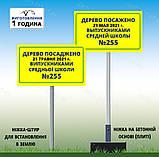 Знак Табличка метал Служебная парковка Просьба машины не парковать на ножке держателе с бетонной плитой, фото 10