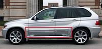 Молдинги дверей листя BMW X5 E53 1999-2006 р. в.