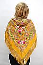 Платок украинский в народном стиле желтый 611012, фото 2