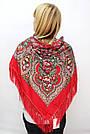 Платок украинский в народном стиле красный 611017, фото 2