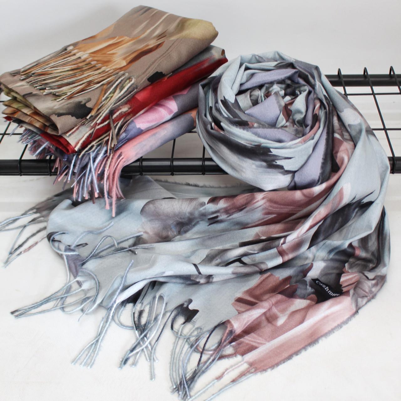 """Кашеміровий двосторонній шарф палантин """"Індіра"""" Cashmere 102002"""
