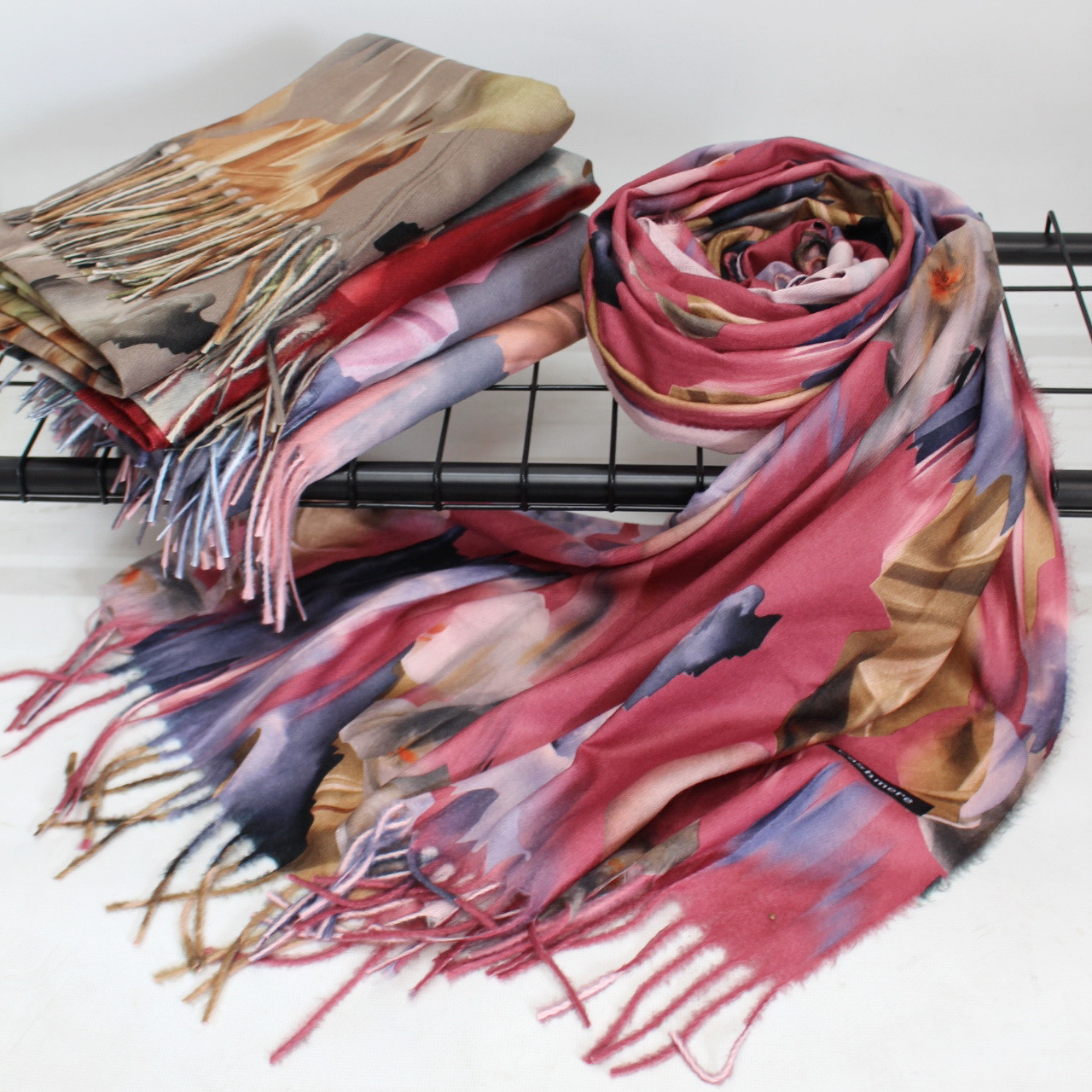 """Кашеміровий двосторонній шарф палантин """"Індіра"""" Cashmere 102003"""