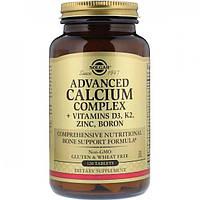 Кальцій + D3 K2 Цинк, Бор Solgar Calcium Complex + Vitamins D3 K2 Zinc Boron 120 таблеток Оригінал! (344663)