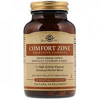Пищеварительный комплекс Solgar Comfort Zone Digestive Complex 90 вегетарианских капсул Оригинал! (344695)