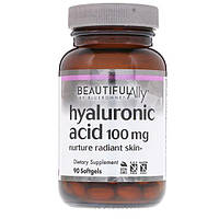 Гиалуроновая Кислота Bluebonnet Nutrition Hyaluronic Acid 100 мг Beautiful Ally 90 желатиновых капсул