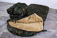 Тактический спальный мешок 2в1 на меху (до -25) спальник туристический для похода, для холодной погоды!