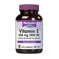 Витамины и минералы Bluebonnet Nutrition Vitamin E 400 IU (268 mg) 50 гел.капс Скидка! (234859)