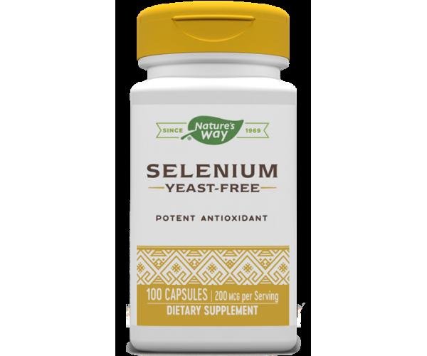 Селен nature's Way Selenium 200 мкг 100 капсул Оригінал! (344980)