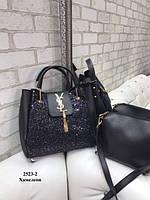 Хамелеон - комплект сумка клатч - Yves Saint Laurent - гліттер (2523-2), фото 1