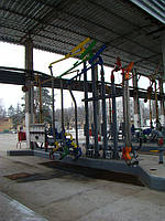 Строительство эстакад нижнего налива нефтепродуктов в цистерны